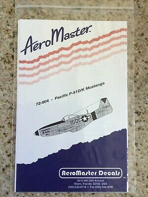 AeroMasters 1/72 Decal Sheet 72-004 WWII US Pacific P-51D/K Mustangs