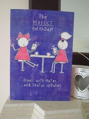 Purple Ronnie Facebook Status Updates Birthday Card Sister Best Friend