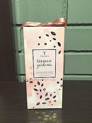 - Thymes Goldleaf Gardenia Perfumed Body Creme 9.25oz / 270mL NEW IN BOX & FRESH