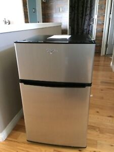 Whirlpool double door mini fridge