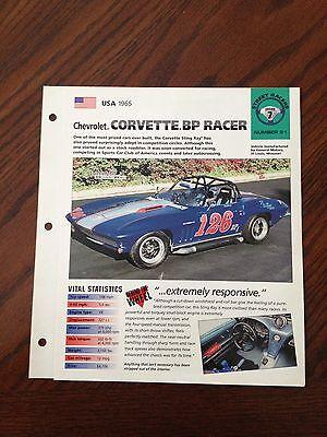 USA 1965 Chevy Corvette.BP Racer Hot Cars SP Group 7 # 51 Spec Sheet Brochure