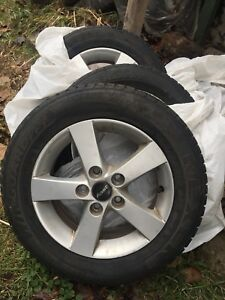 15' Mags 5 bolts - 195/65/R15 Winter Tires
