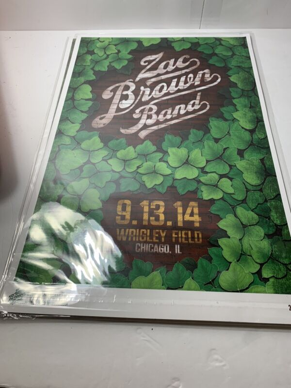 Zac Brown Band Limited Edtion Series Print 2014 Wrigley Field #28/600