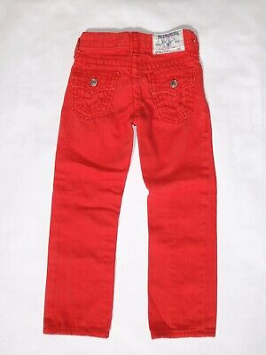 True Religion boy's 4 straight leg straight Big T red jeans