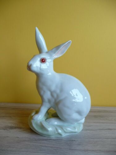 Antique Herend porcelain big rabbit