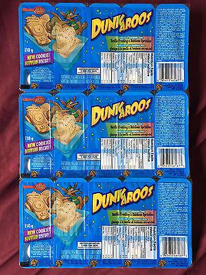 Dunkaroos 3 Packages, 15 Total Snacks Cookies & Vanilla Frosting USA SELLER