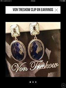 Von Treskow clip on earrings Double Bay Eastern Suburbs Preview