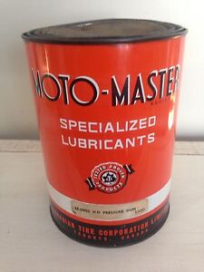 Antique 5 pound great cond CTC Motomaster grease can, oil gas