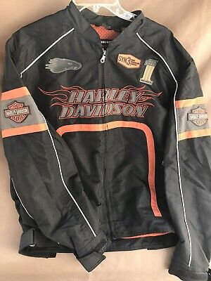 Harley Davidson Mens Water ResistRiding Jacket-large- Preowned- Great condition