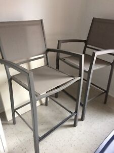 High Top Outdoor Patio Chairs- 2 for $25