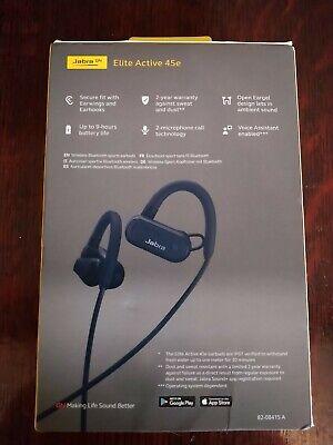 Jabra Elite Active 45e Wireless Open Earbud Design with Alexa Waterproof UNUSED