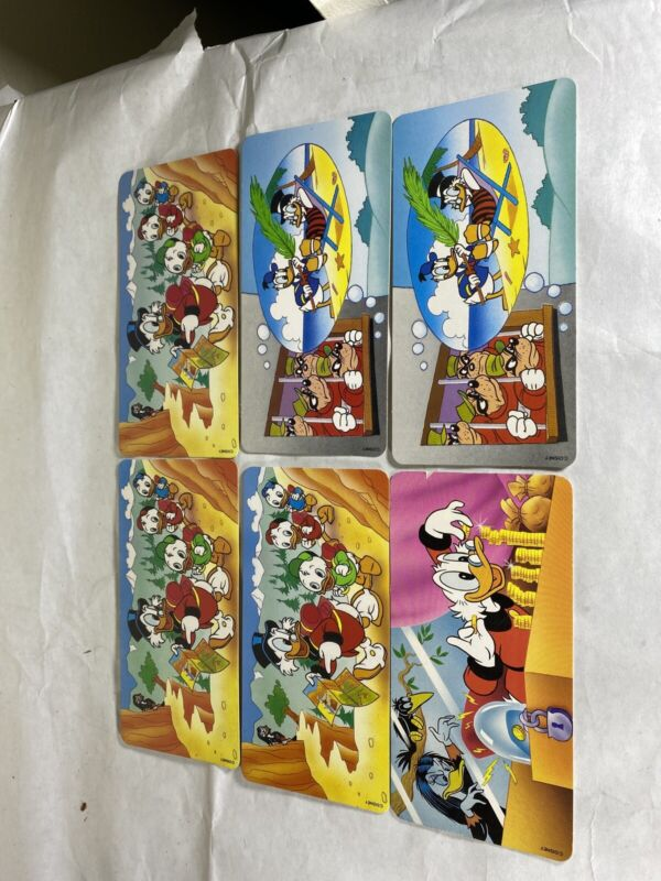 Donald Duck Disney Family NESTLE Post Cards 3.75x7.5 Rare In USA Lot Of 6