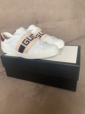 Gucci Ace Stripe Sneaker Designer Trainers Size 6.5, 7, 7.5 Shoes