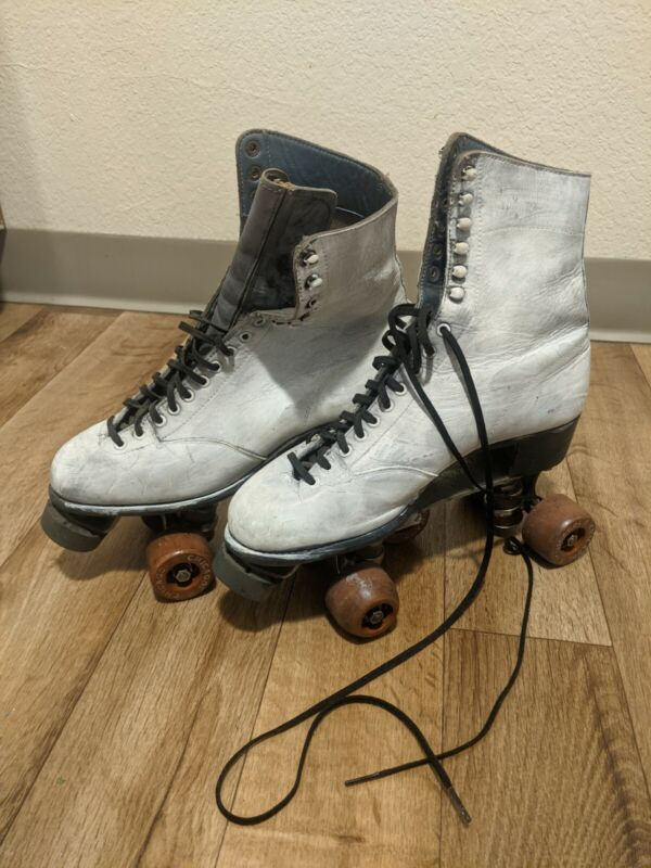 Betty Lytle White Size 6 Roller Skates - Instant Roller Derby Cred