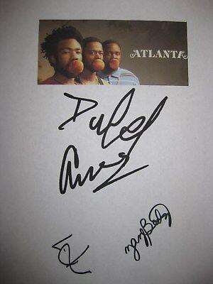 Atlanta Signed TV Pilot Script X3 Donald Glover Lakeith Stanfield Zazie Beetz RP
