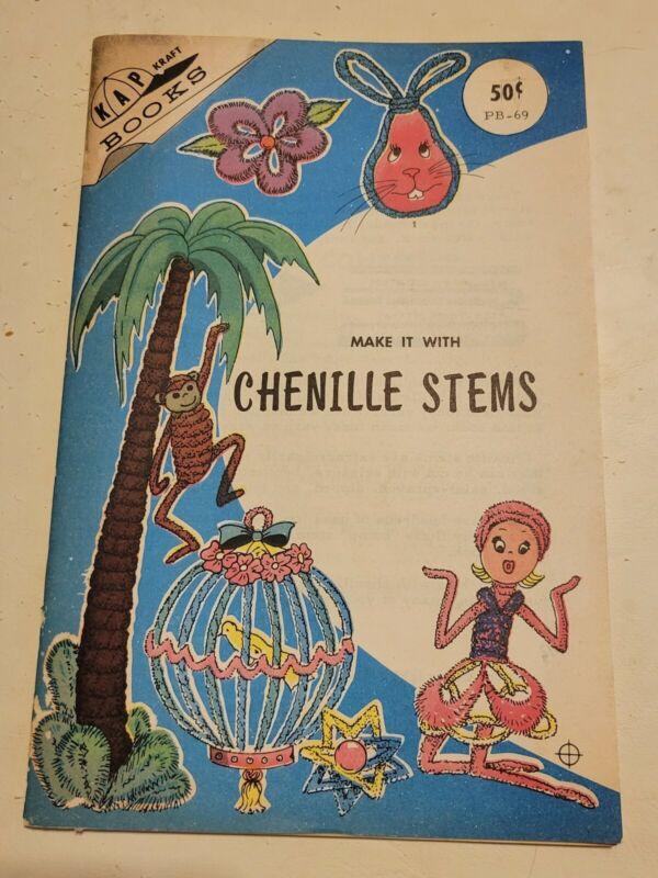 Vintage 1966 Kap Kraft Book Make It With Chenille Stems Crafting DIY Arts