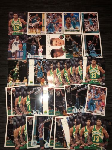 Kendall Gill Lot Of 50 Hornets, Supersonics 12 Different Cards Base - $5.00