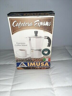 IMUSA Cafetera Express Maker Stove Top 6 cups open box