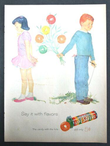 1956 Lifesavers: Say It With Flowers Vintage Print Ad