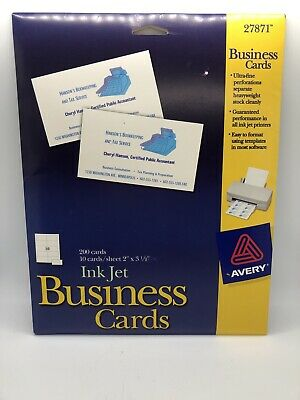 Avery Ink Jet Heavyweight Business Cards 190 Cards