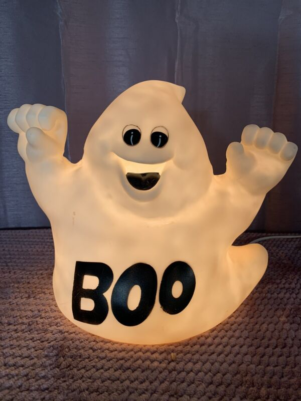Vintage Boo Ghost Mini Light-Up Blow Mold Table Top Indoor/Outdoor Decor
