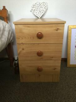 Bedside table with drawers