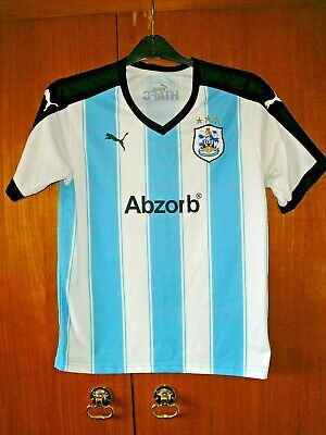 Huddersfield Town Football Shirt Puma 2015/16 Home size 30/32 age 11/12 152cm image