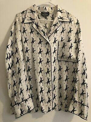 Calvin Klein 205W39NYC Raf Simons Andy Warhol Knives Silk Pajama Shirt Medium