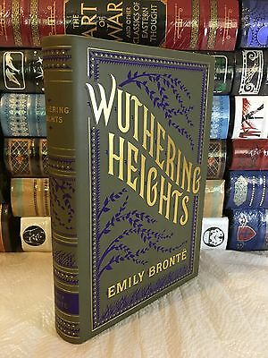 WUTHERING HEIGHTS by EMILY BRONTE Leatherbound Collectible Edition & NEW!