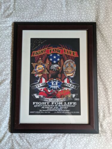 Fight for Life Poster autographed LAPD Chief Charlie Beck & LASD Sheriff Baca