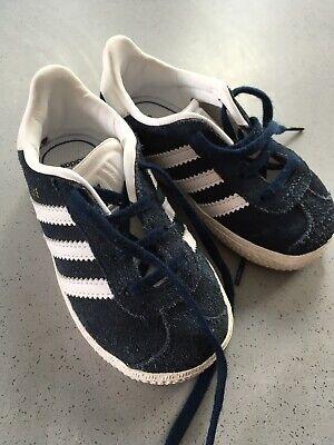 Adidas Gazelle Infant Size 5 Navy/white