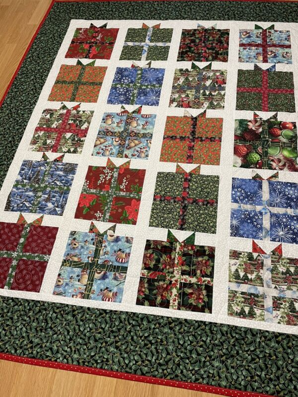 Handmade Christmas Present Couch Quilt