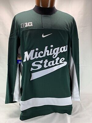 Michigan State Spartans Green Embroidered Nike Authentic Hockey Jersey NWT covid 19 (Michigan State Spartans Green coronavirus)