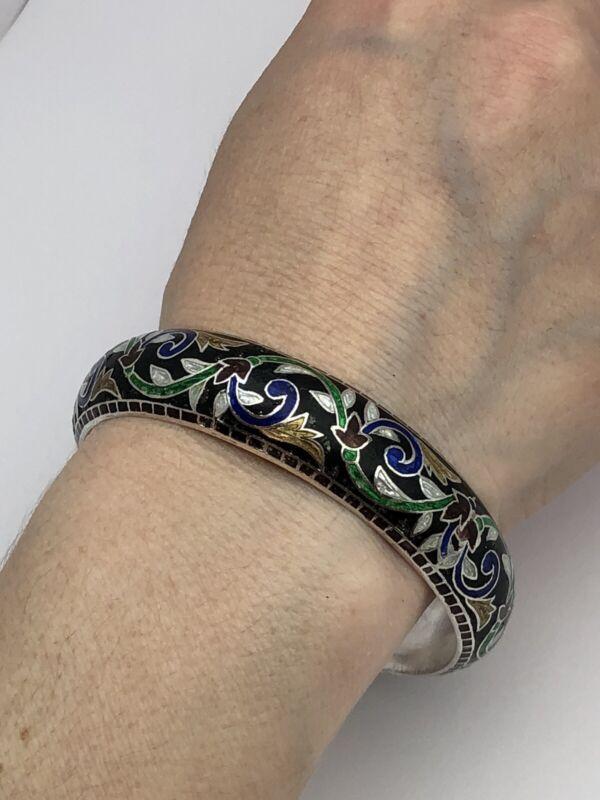 vintage enamel sterling 925 Bracelet