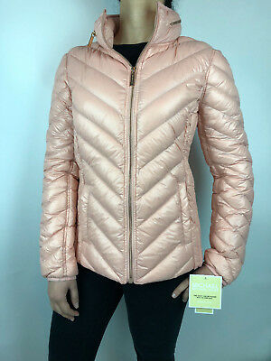 Womens Michael Kors Packable Down Puffer Jacket Bubble Coat Blush Pink](michael kors packable puffer coat)