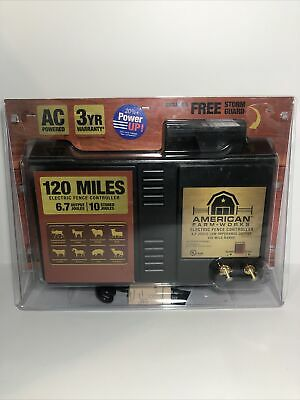 American Farm Works 120 Miles Low-impedance Electric Fence Controller New