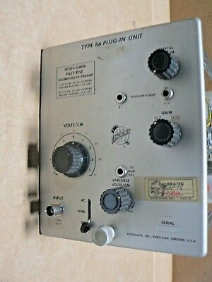 Tektronix Type 86 High Gain Fast-rise Calibrated Dc Pre Amp