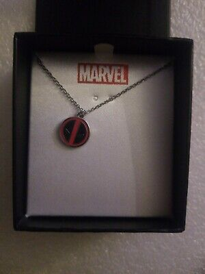 NIP Marvel Comics Deadpool Stainless Steel Logo Pendant with Chain