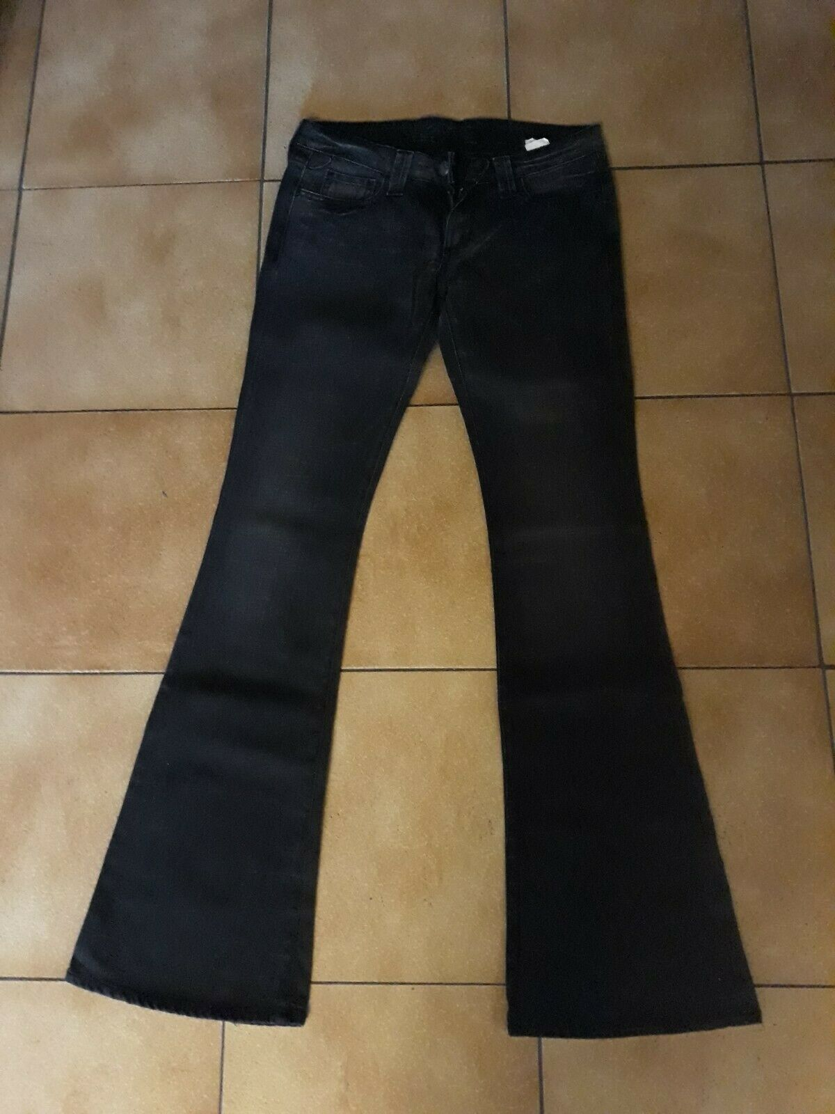 Long jean lois noir slim stretch flare t 38 w30 l34? femme be