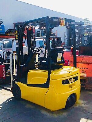 7 2014 Yale Erp030 3 Wheel Forklifts Low Hours 192 Masts Rebuilt Batteries