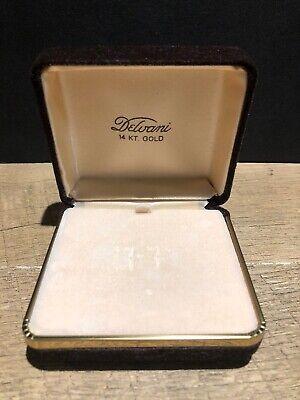 Large 14k Vintage Velvet Ring Necklace Gift Box Presentation Display -