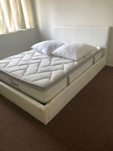 Bed frame with storage and mattress