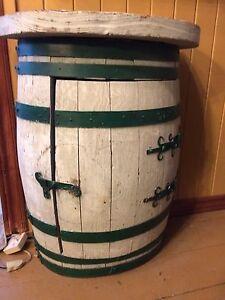 Demi baril décoratif (ve) Half barrel