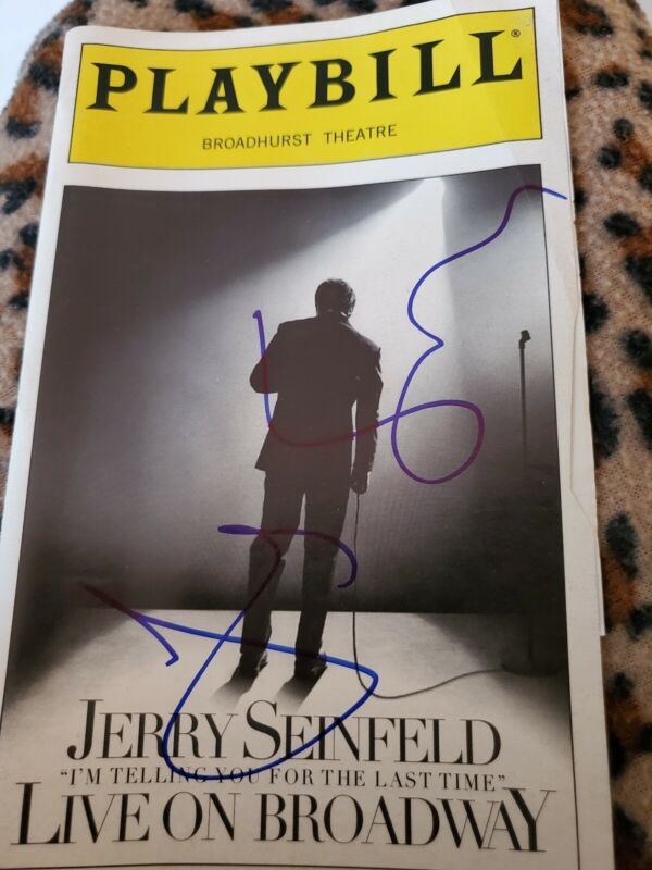 Jerry Seinfeld on Broadway- SIGNED, AUTOGRAPHED PLAYBILL