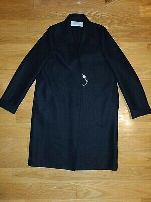 Harris Wharf London A1301MLK Womens Wool Coat Black Size IT40 US S