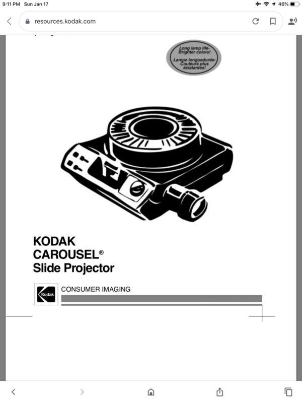 KODAK CAROUSEL SLIDE PROJECTOR #800