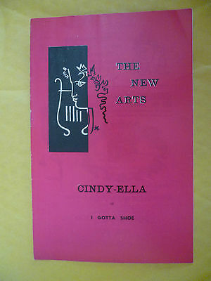 The New Arts Theatre 1st Performance 1963- M Codron's CINDY ELLA or I GOTTA SHOE
