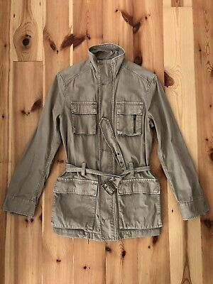 H&M Men's Belted Cotton Safari Style Jacket, Size 36/ 46 EU, Camel for sale  Shipping to Nigeria