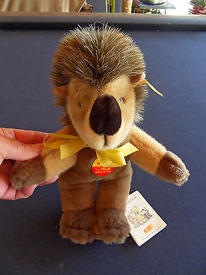 Steiff Porcupine  hedgehog  dangling all Ids  stuffed animal made  Germany 582