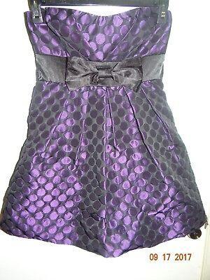 SPEEKLESS Sz 7 Black & Purple Polka Dot Dress Rockabilly Halloween FREE SHIPPING](Rockabilly Halloween)